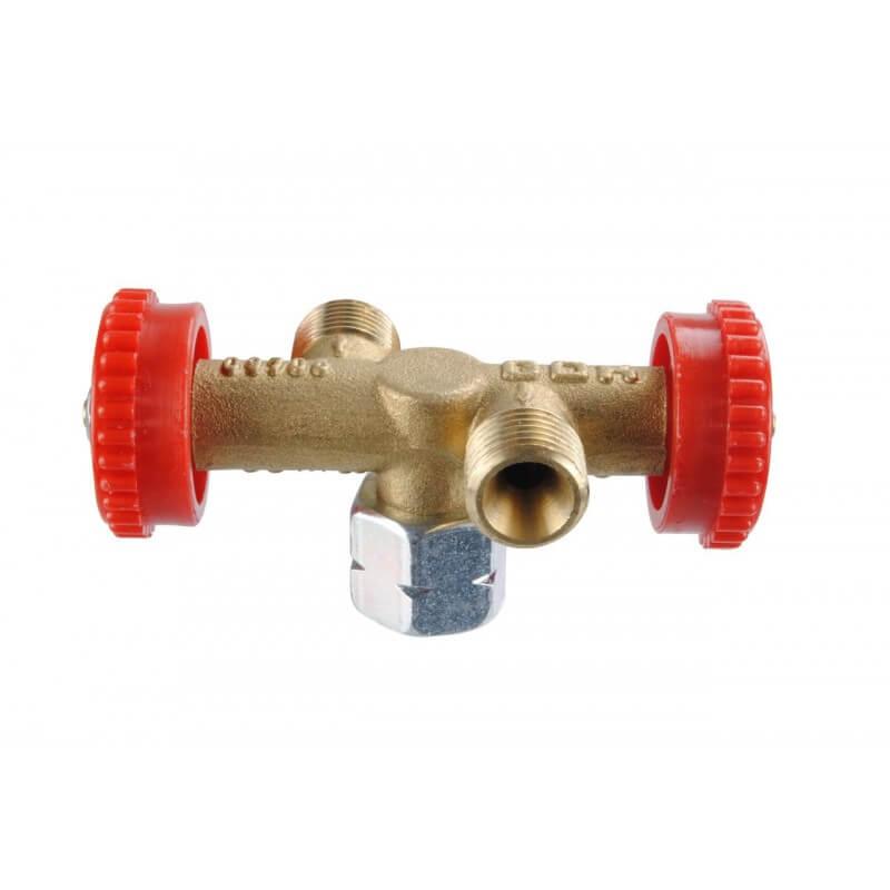 Διπλό κλείστρο υγραερίου για την λειτουργία δυο φιαλών ταυτόχρονα.