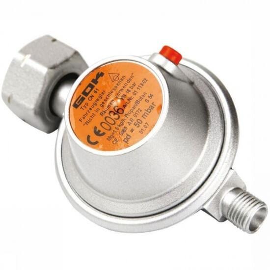 Ρυθμιστής Ασφαλείας Αερίου 50 mbar 1.5 kg/h